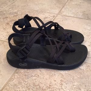 Black ladies Chaco sandals, size 9